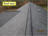 Here is a typical roof as found in an inspection report